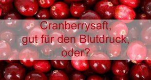 Cranberrysaft ist gesund